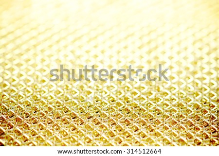 Abstract bokeh gold shine light background - stock photo