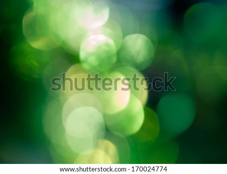 abstract bokeh in green color - stock photo