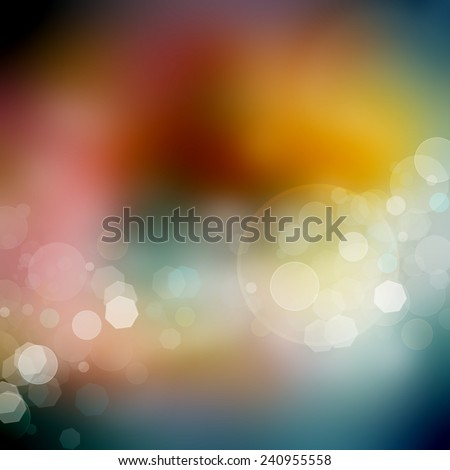 Abstract Bokeh lights background - stock photo