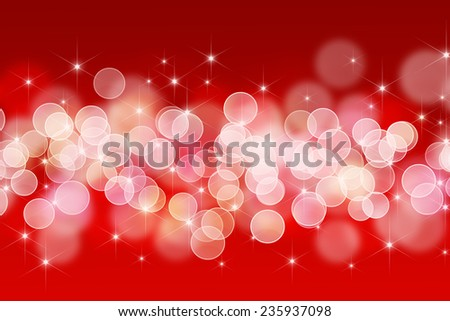 abstract bokeh lights with christmas stars. defocused background - stock photo