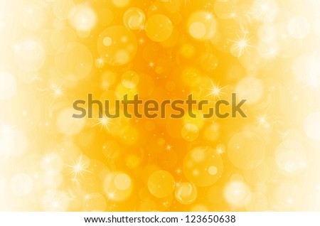 abstract bokeh on yellow background - stock photo