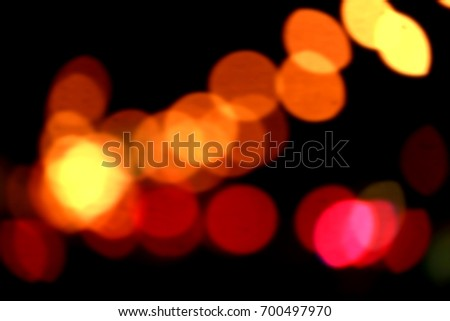 Abstract Bokeh & Zoom of lighting on the road