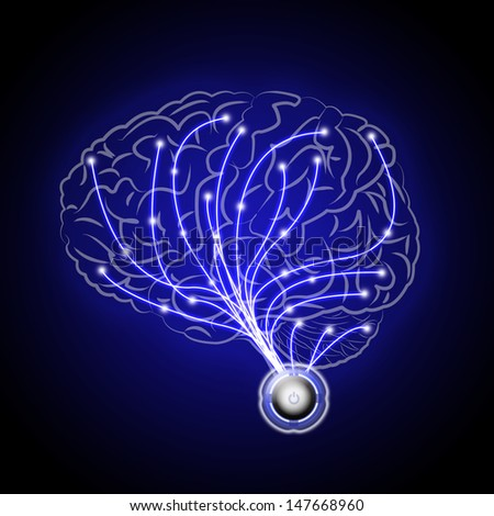 abstract brains human  - stock photo
