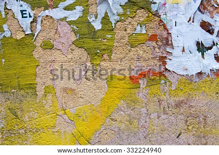 Abstract brick and concrete, weathered with cracks and scratches. Landscape style. Grungy Concrete Surface. Great background or texture.