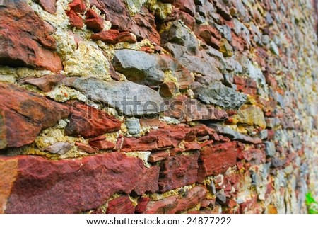Abstract brick wall background - stock photo