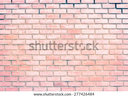Abstract brick wall white bleached pastel mixed - stock photo