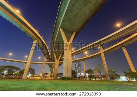 Abstract bridge in Bangkok - stock photo