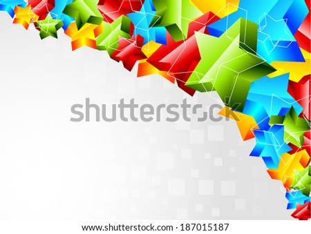 Abstract bright background with star, raster copy