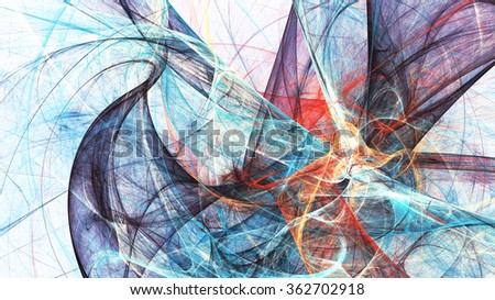 Abstract bright color motion composition. Modern futuristic dynamic background. Multicolor artistic pattern of paints. Fractal artwork for creative graphic design - stock photo