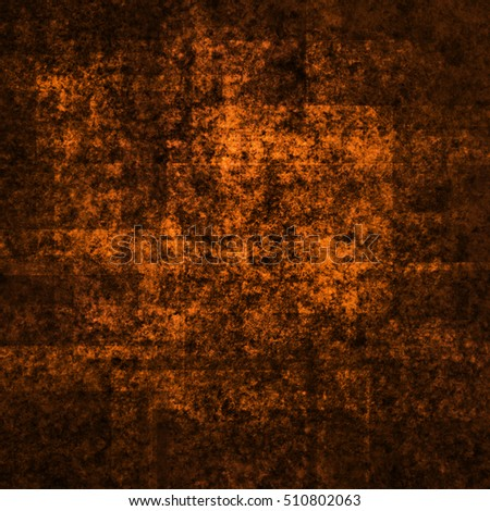 abstract bright colored scratched grunge background - orange