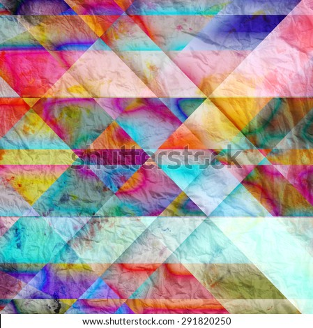 Abstract bright colorful background with different geometric elements