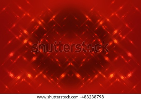Abstract bright glitter red background. romantic illustration