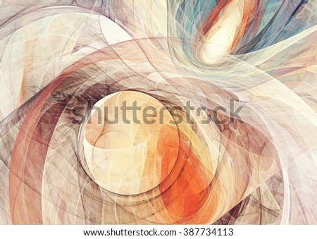 Abstract bright motion composition. Modern futuristic dynamic background. Yellow and blue color artistic pattern of paints. Fractal artwork for creative graphic design
