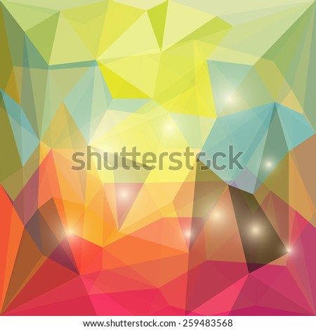 Bright Polygonal Yellow And