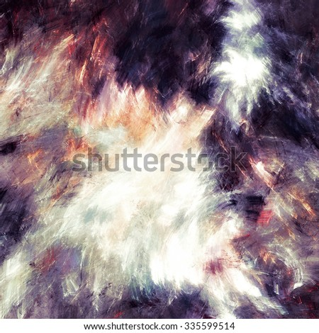 Abstract bright painting texture. Artistic color dynamic background with lighting effect. Modern futuristic winter background. Fractal artwork for creative graphic design - stock photo