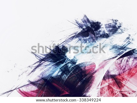 Abstract bright painting texture. Futuristic digital dynamic background with lighting effect. Fractal art for creative graphic design - stock photo