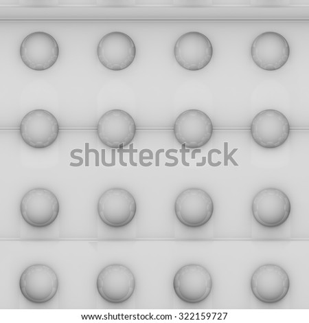 Abstract bright seamless background bitmap. Balls on a gray background
