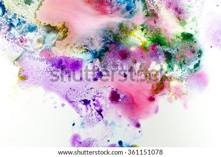 Abstract Bright Watercolor for textures and backgrounds grunge texture with paint splatter , Bright watercolor stains , Real watercolor texture.  - stock photo