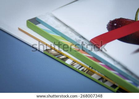 abstract brochure background - stock photo