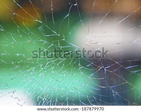 Abstract broken glass - stock photo