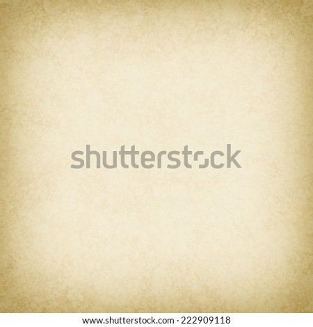 abstract brown background beige tan color, plain simple background with vintage grunge background texture, light center, beige brown paper style or old sepia parchment - stock photo