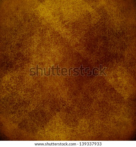 Abstract Brown Background Gold Yellow Color Vintage Grunge Texture Distressed Pattern Rustic