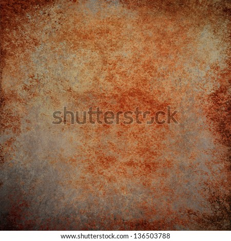 abstract brown background rust color stain splash brown messy dirty frame vintage grunge background texture gray neutral design old paper texture rough distressed copper country western background  - stock photo
