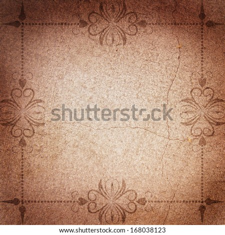 abstract brown background with frame