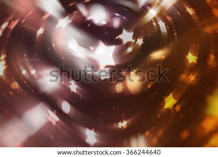 abstract brown background with scintillating circles and gloss