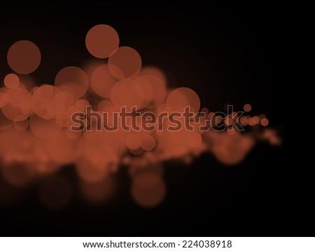 Abstract brown bokeh circles - stock photo