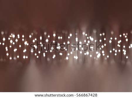 abstract brown bokeh circles with particles. illustration beautiful.