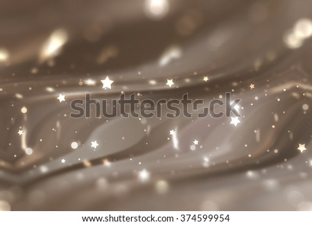 Abstract brown elegant background with glitter and waves