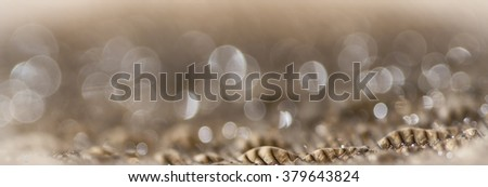 Abstract brown feather with water droplets