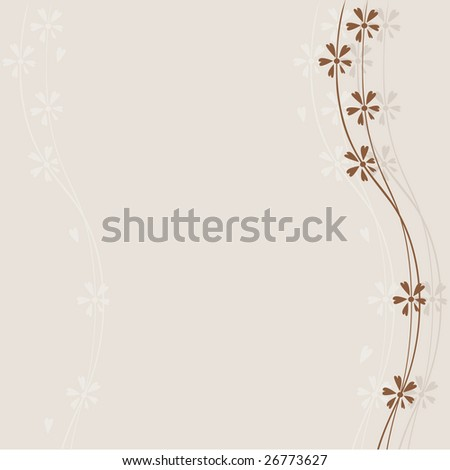 abstract brown floral background