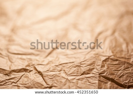 Abstract brown recycle crumpled paper for background  - stock photo