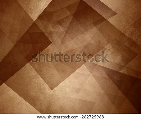 abstract brown sepia background, elegant triangle pattern design element on light brown or tan background with vintage texture - stock photo