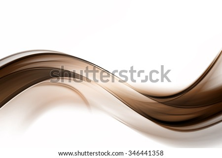 Abstract Brown Wave Design Background - stock photo