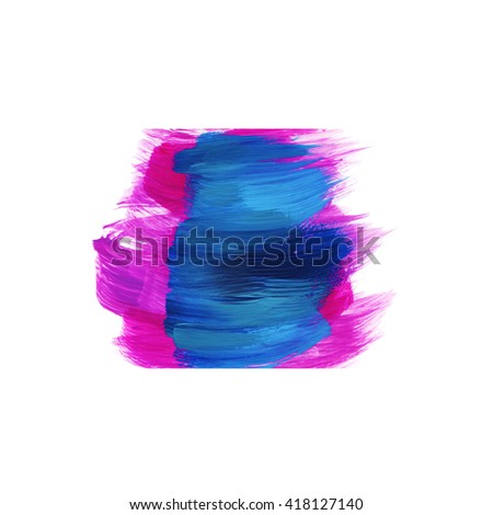 Abstract brush lines,blue and pinkcolors,design element - stock photo