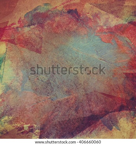abstract brush stroke grunge old wall background - stock photo