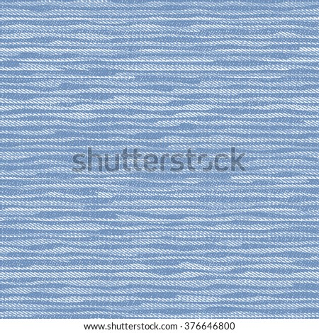 Abstract brushed strokes motif on washed indigo textured background. Seamless pattern. - stock photo