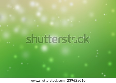 abstract bubble snow green background