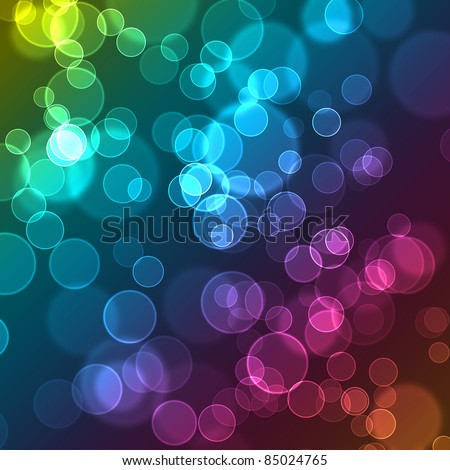 Abstract bubbles cute colorful wallpaper. Contain several colors - stock photo