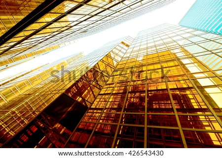 Abstract building background - stock photo