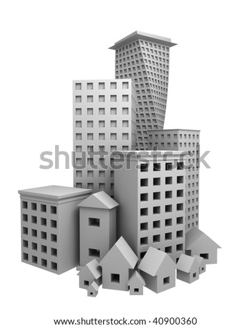 abstract building composition