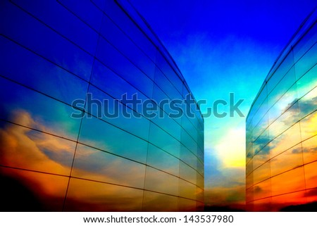 Abstract building design - stock photo