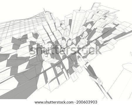 abstract buildings