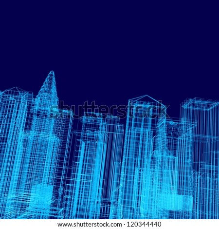 Abstract buildings. Architecture design and model - stock photo