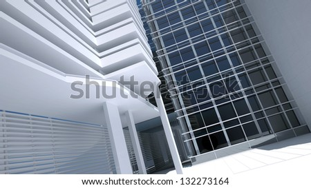abstract business architectural background