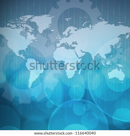 Abstract business background blue color - stock photo