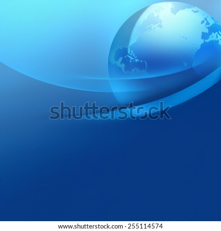 abstract business background with world
